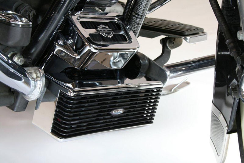 CHROME ULTRACOOL THE REEFER OIL COOLER W/ FANS 99-2008 HARLEY ...