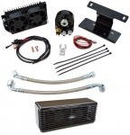 BLACK ULTRACOOL THE REEFER OIL COOLER W/ FANS 2009-13 HARLEY TOURING