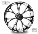 Performance Machine VIRTUE PLATINUM Cut Wheel Harley Bagger 23""
